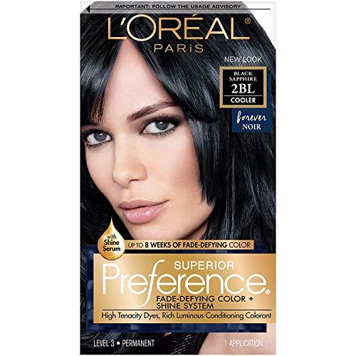 L'Oreal Paris Superior Preference Fade-Defying + Shine Permanent Hair Color, 2BL Black Sapphire,...