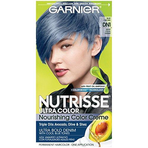 Garnier Nutrisse Ultra Color Nourishing Hair Color Creme, DN1 Light Cool Denim (Packaging May Vary),...